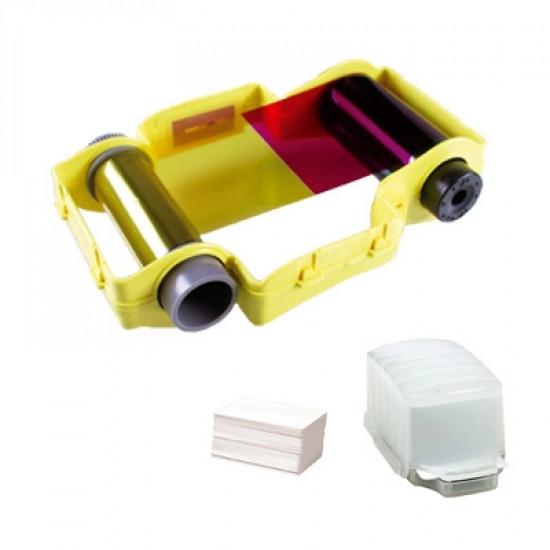 Magicard PCF1 - 50 PVC Cards in Dispenser + 50 Shot YMCKO Ribbon