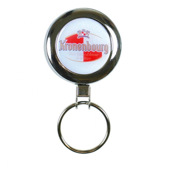 Heavy Duty Reel with Keyring - All Chrome