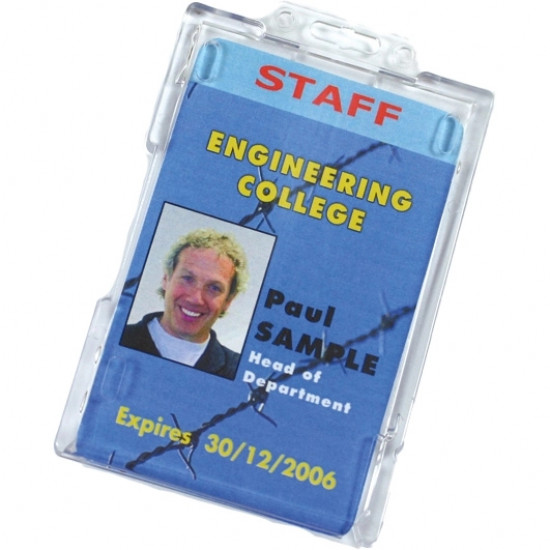 Badge Buddy ID Card Holder - Vertical - pack of 100