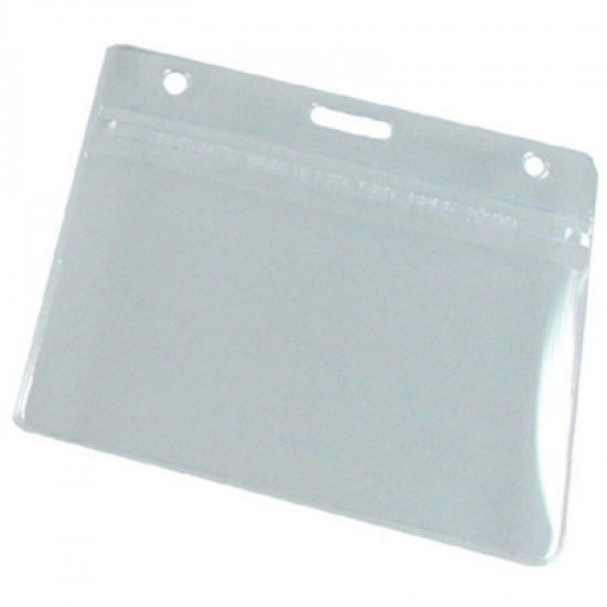 Flexible PVC Badge Holders - Clear - pack of 100