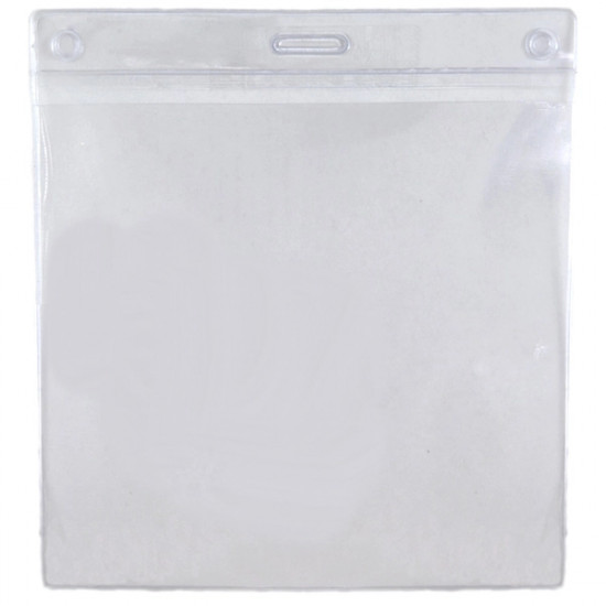 Flexible PVC Badge Holder Wallet - pack of 100