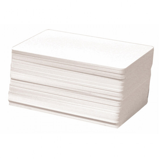 Plain White PVC Cards - 760 micron - Pack of 100