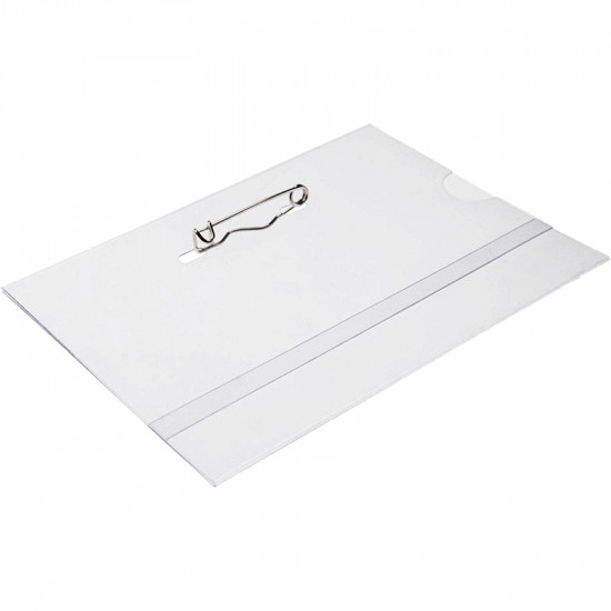 Acrylic ID Card Holder With Pin - pack of 100
