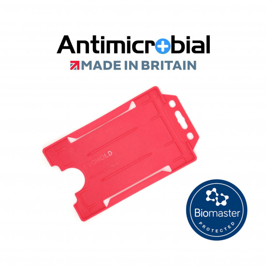 Antimicrobial Open Faced ID Card Holders  - Portrait - Single Sided