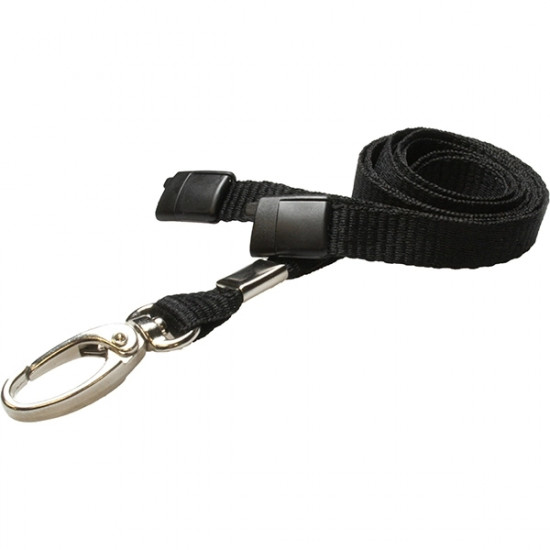 10mm Breakaway Safety Lanyard with Metal Clip - pack of 100