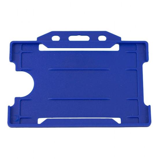 Open Faced Badge Holder - Horizontal - Navy Blue - pack of 100