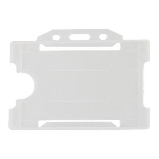 Open Faced Badge Holder - Horizontal - Clear - pack of 100