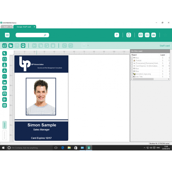 EasyBadge Enterprise ID Card Software