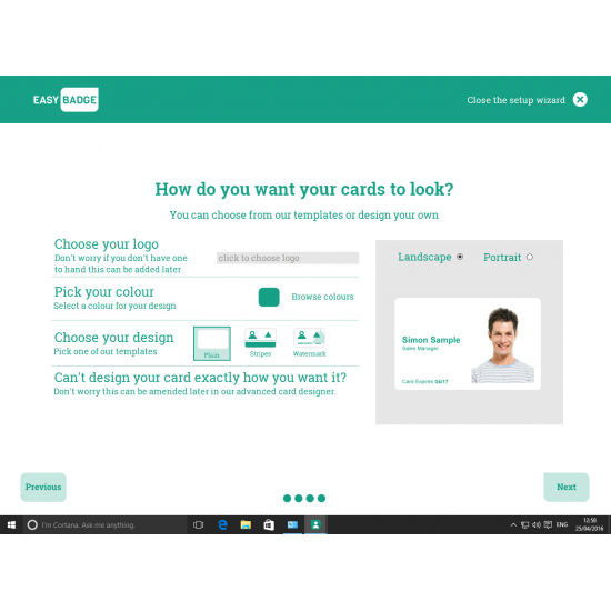 EasyBadge Professional ID Card Software