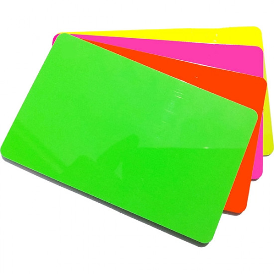 Fluorescent PVC Cards - pack of 100