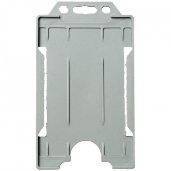Open Faced Badge Holders - Vertical - Grey - pack of 100