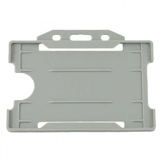 Open Faced Badge Holder - Horizontal - Grey