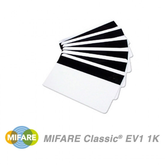 NXP MIFARE Classic 1K EV1 Cards With HiCo Magnetic Stripe - pack of 100