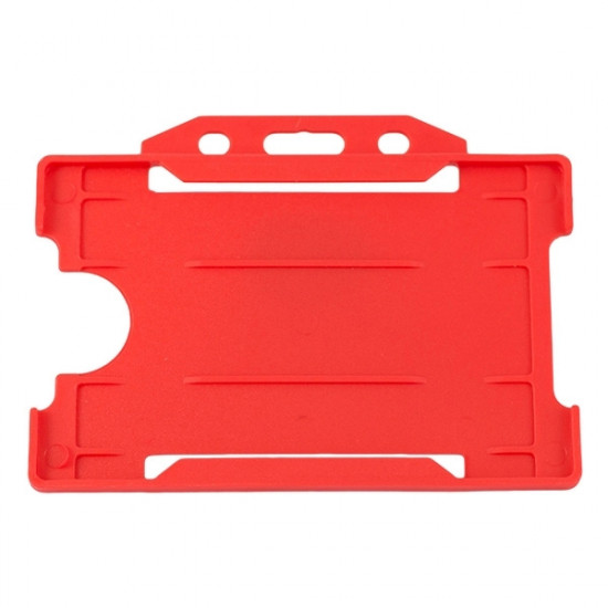 Open Faced Badge Holder - Horizontal - Red - pack of 100