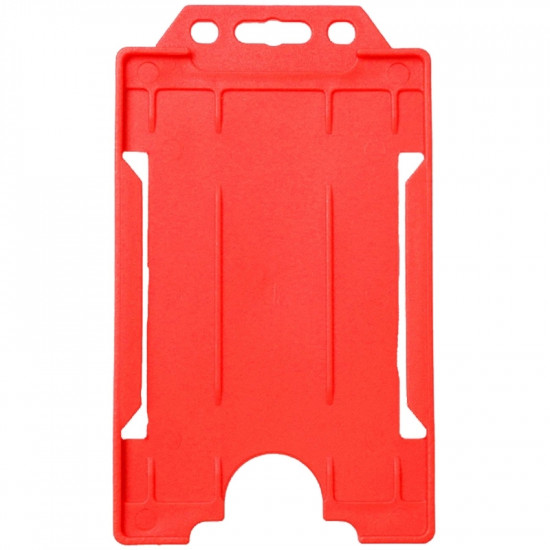 Open Faced Badge Holders - Vertical - Red - pack of 100