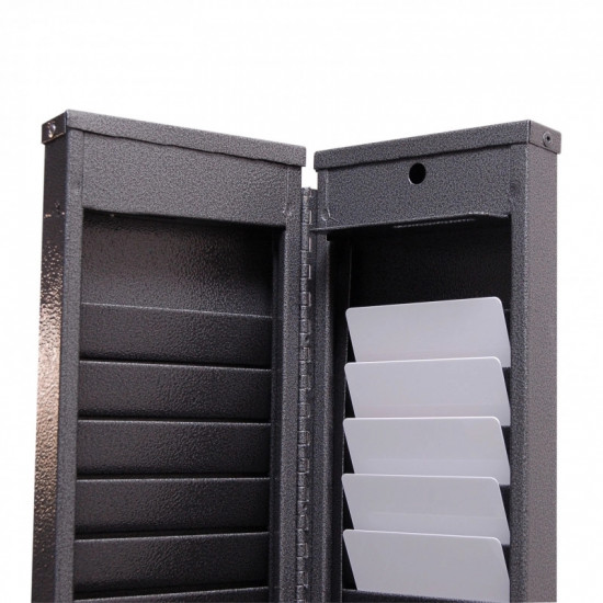 Lockable Metal Card Wall Rack for 50 cards