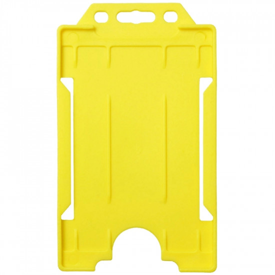 Open Faced Badge Holders - Vertical - Yellow - pack of 100